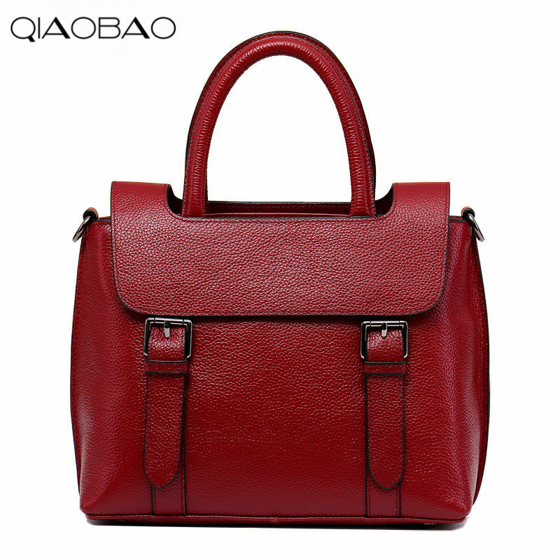 QIAOBAO 2018 new first layer of leather oblique cross handbags Korean casual leather handbag fashion handbag sitemap 98 xml
