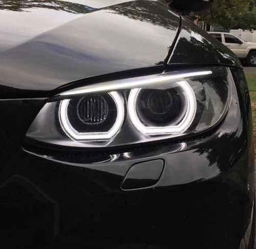 Voor BMW 3 Serie E90 E92 E93 M3 Coupe/cabriolet 2007-2013 Hoge Kwaliteit DTM Stijl Wit Kristal LED angel eyes Dag drl