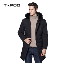 2018 Thick Warm Winter Jacket Parkas Men Fashion Casual Fur Collar Hood Military