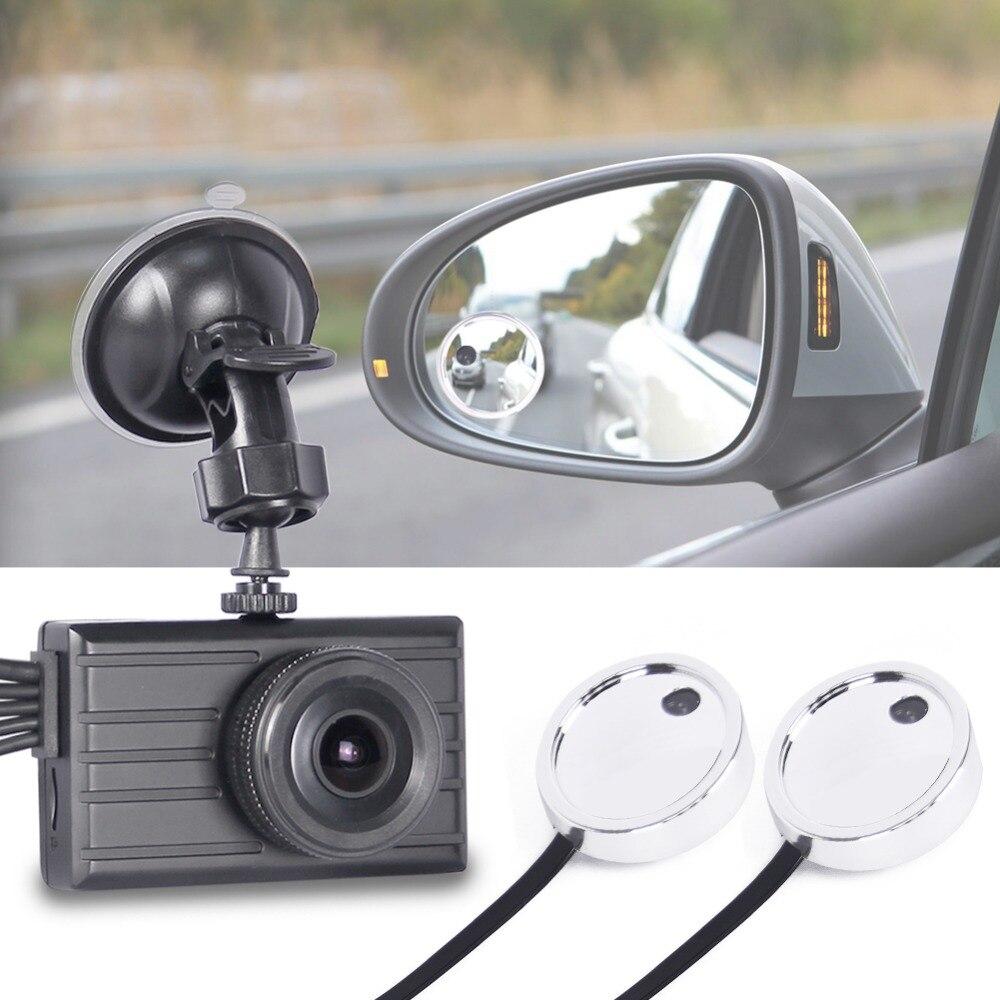 SYS 3CH Car Dash Cam DVR Sistema di 1080 p Fotocamera Sul Davanti e Vista Laterale Blind Spot A Doppio Specchio Telecamere, 3.0 ''LCD GPS 256g Supporto