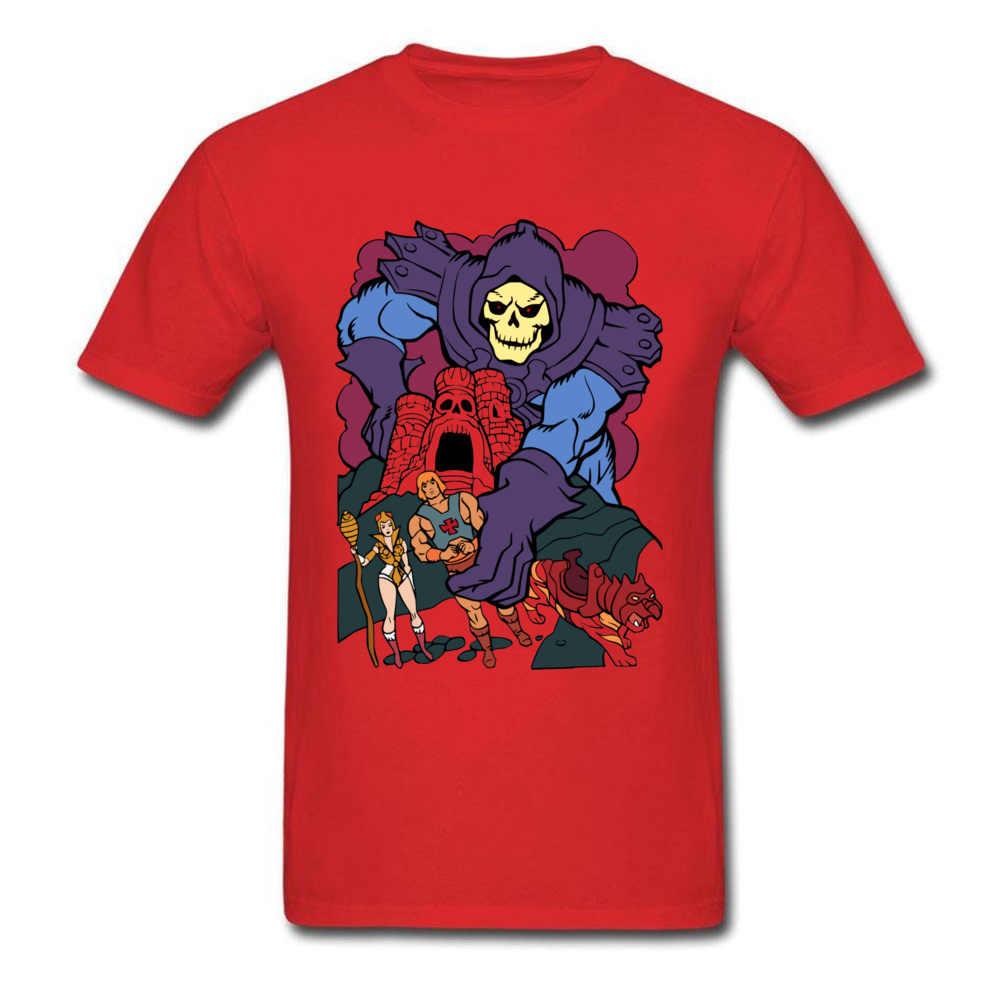 漫画 Tシャツ男性シンプルなデザイン Tシャツゲーム宇宙 HeMan スカルプリント Tシャツを彼はマン · マスタートップスストリート綿