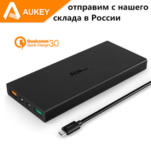 Aukey 16000mAh External Power Bank For Qualcomm Quick Charge 3.0 Universal Portable Charger External Battery ship from Russia