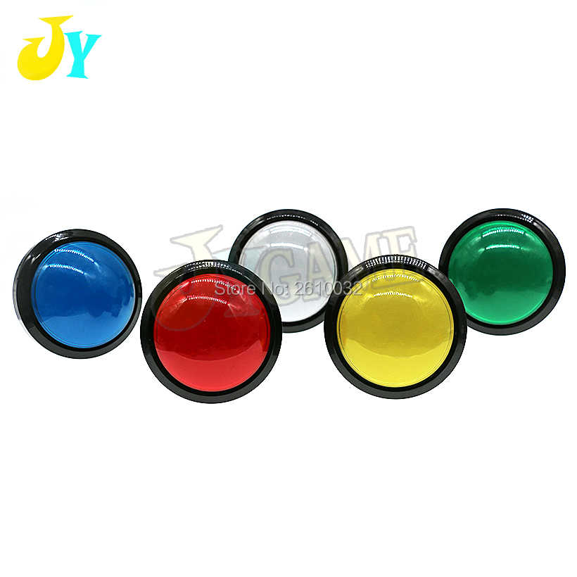 DC12V 60MM LED Light Button Big Round Convex Button Arcade Video Game Player Push Button Switch 1PCS