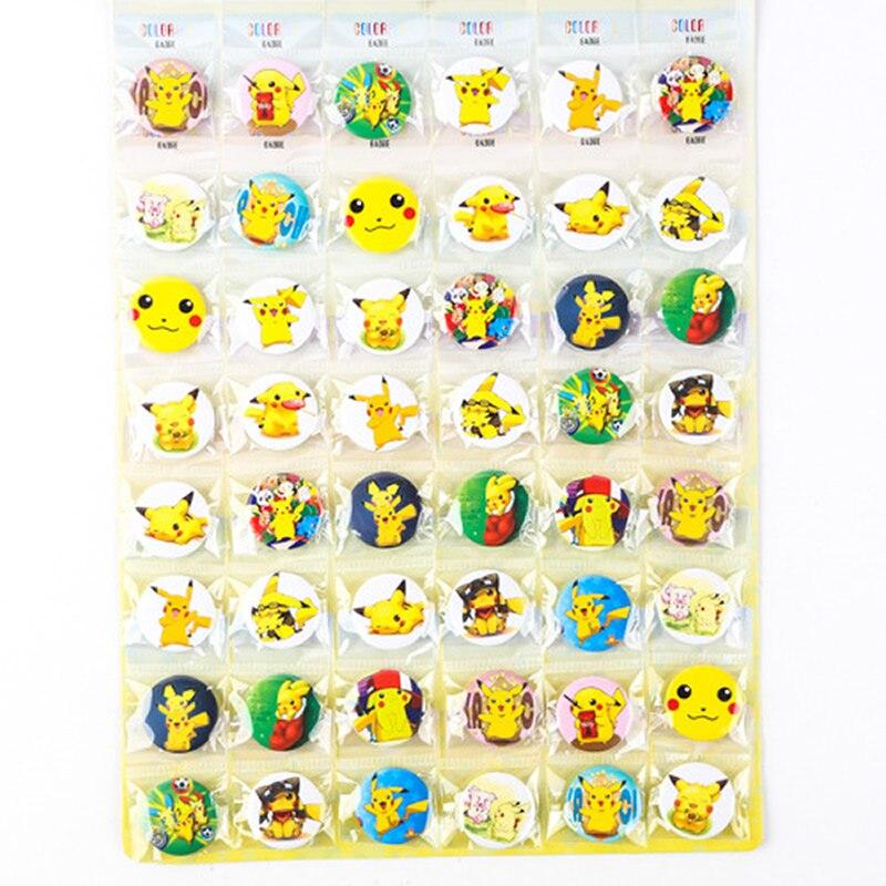 2016 New 48pcs Set Anime Pokemon Gym Center Pikachu 1 Metal Cartoon Badge Brooch Pin