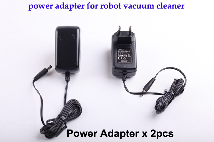 (For B2000,B3000.B2005.B2005 PLUS) Power Adapter for Robot Vacuum Cleaner, European Type,Two Pin,Round Shape for x500 b2000 b3000 b2005 left