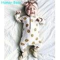 Humor Oso Mamelucos Del Bebé Primavera Autunm conos De Pino Niño Ropa De Recién Nacido Ropa Del Mono Del Bebé Recién Nacido Ropa de Los Cabritos
