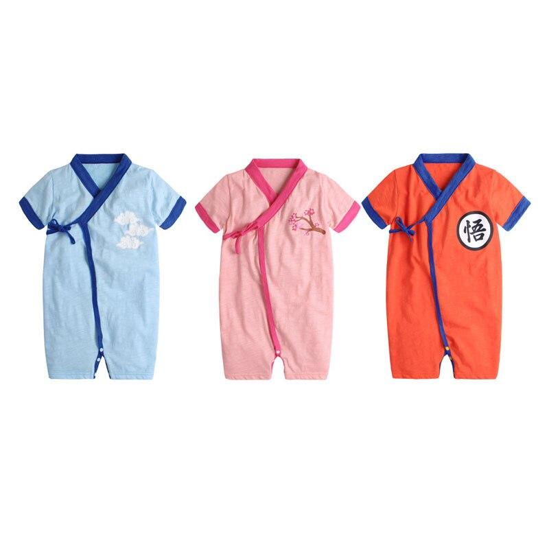 New Born Babys bebes girls boys Bamboo cotton Dragon Ball clothes rompers bathrobe Roupas de bebe yukata