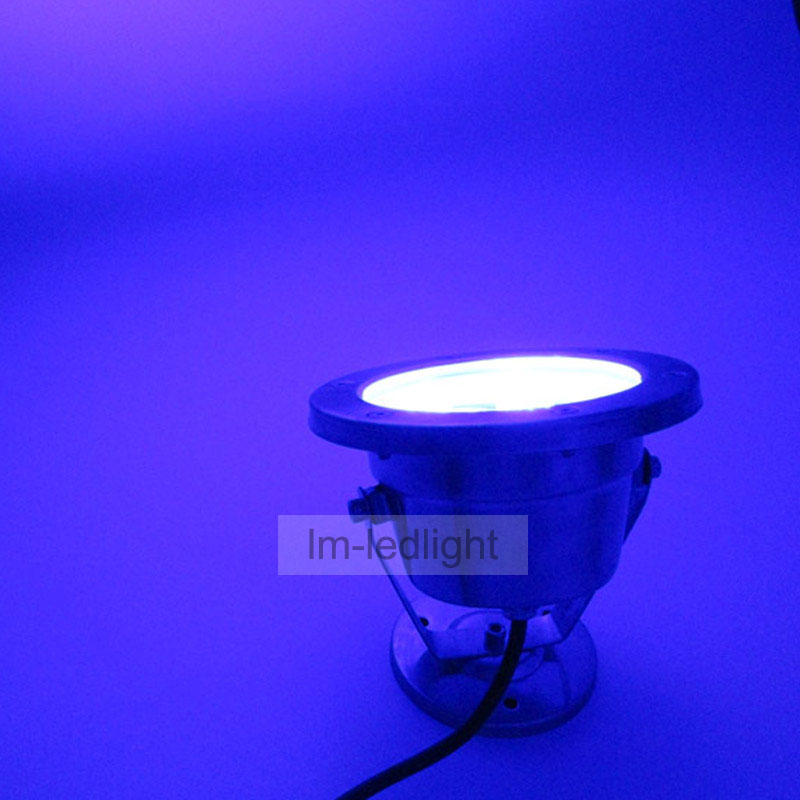 24V led pool light 12W IP68 waterproof underwater lights for pools white RGB yellow blue luces para fuentes de agua ...