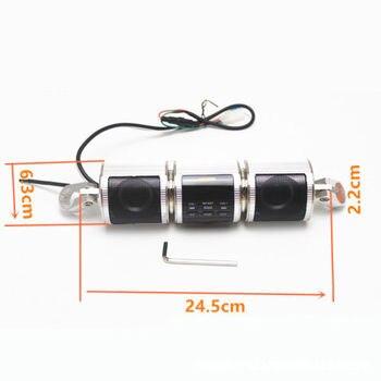 Sistemas De Radio De Motocicletas   Sistema De Sonido De Audio Bluetooth Del Manillar De La Motocicleta MP3 Radio FM Altavoces Estéreo Plata Cruiser Chopper Cafe Racer Bobber