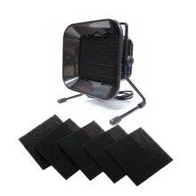220V 493 pochłaniacz dymu lutowniczego + 5 sztuk gąbki węgiel aktywny profesjonalne urządzenie do usuwania oparów ESD filtr powietrza urządzenie do usuwania oparów