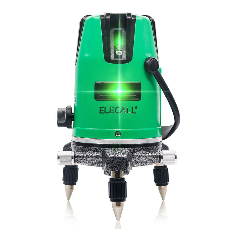 ELECALL 2 Cross line Laser Level Self-Leveling 360 Horizontal And Vertical Cross Super Powerful Green Laser Beam Line high quality southern laser cast line instrument marking device 4lines ml313 the laser level