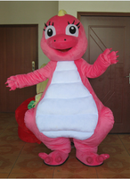 Barney mascot costume Yellow Green Pink Dinosaur Birthday Party Halloween Fancy Cosplay Dress Adult Outfit Free Shipping