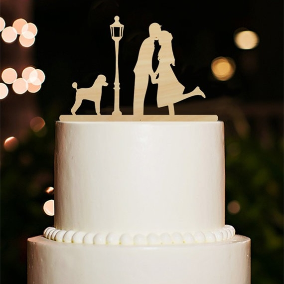 Holz Hochzeitstorte Topper Braut Und Brautigam Silhouette Paar Kuss