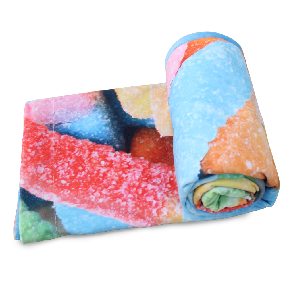 Gummy Worm Candies Throw Blankets for baby blanket and Adult blanket in Blankets from Home Garden