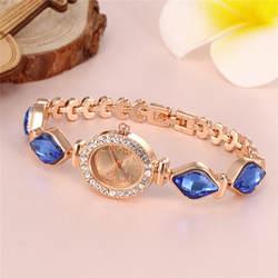 2019 женские круглые полностью бриллиантовые часы-браслет, аналоговые кварцевые наручные часы с механизмом, креативные женские часы, стразы