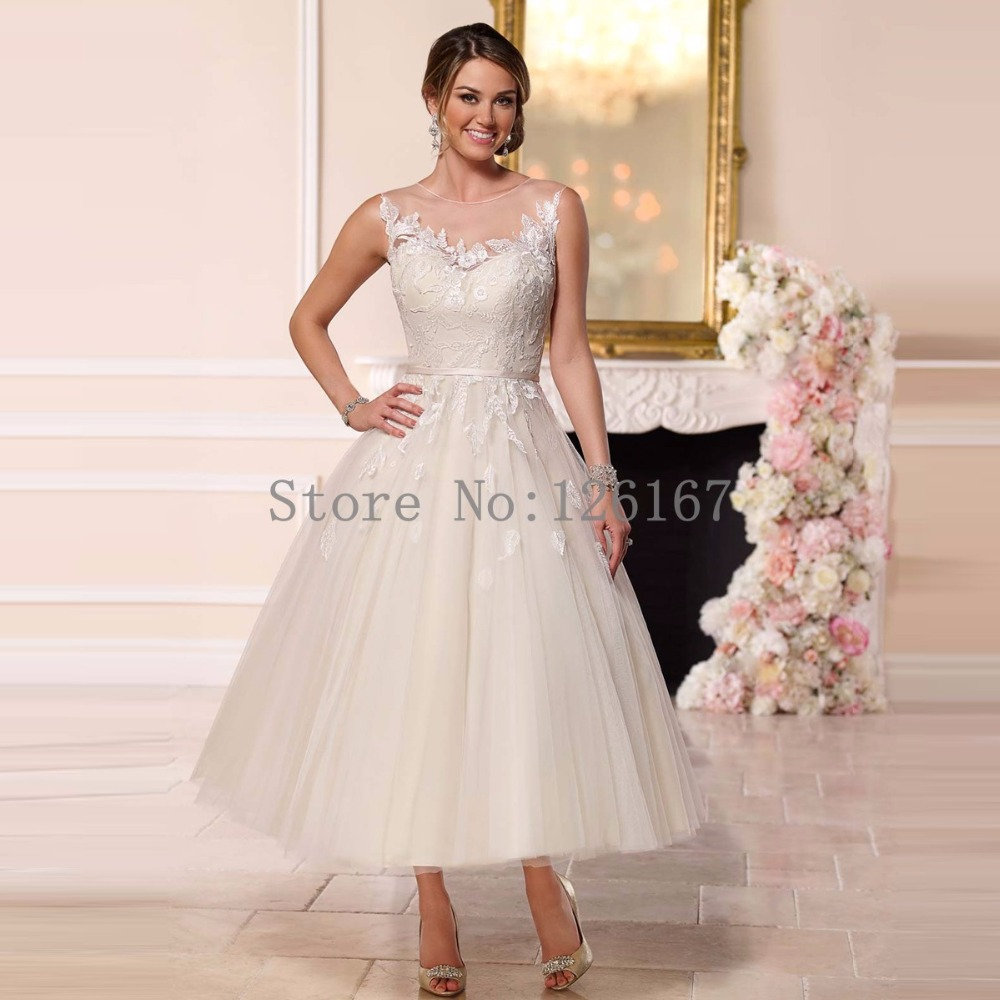 Buy short spring wedding dress 2017 robe for Wedding dress ideas for short brides
