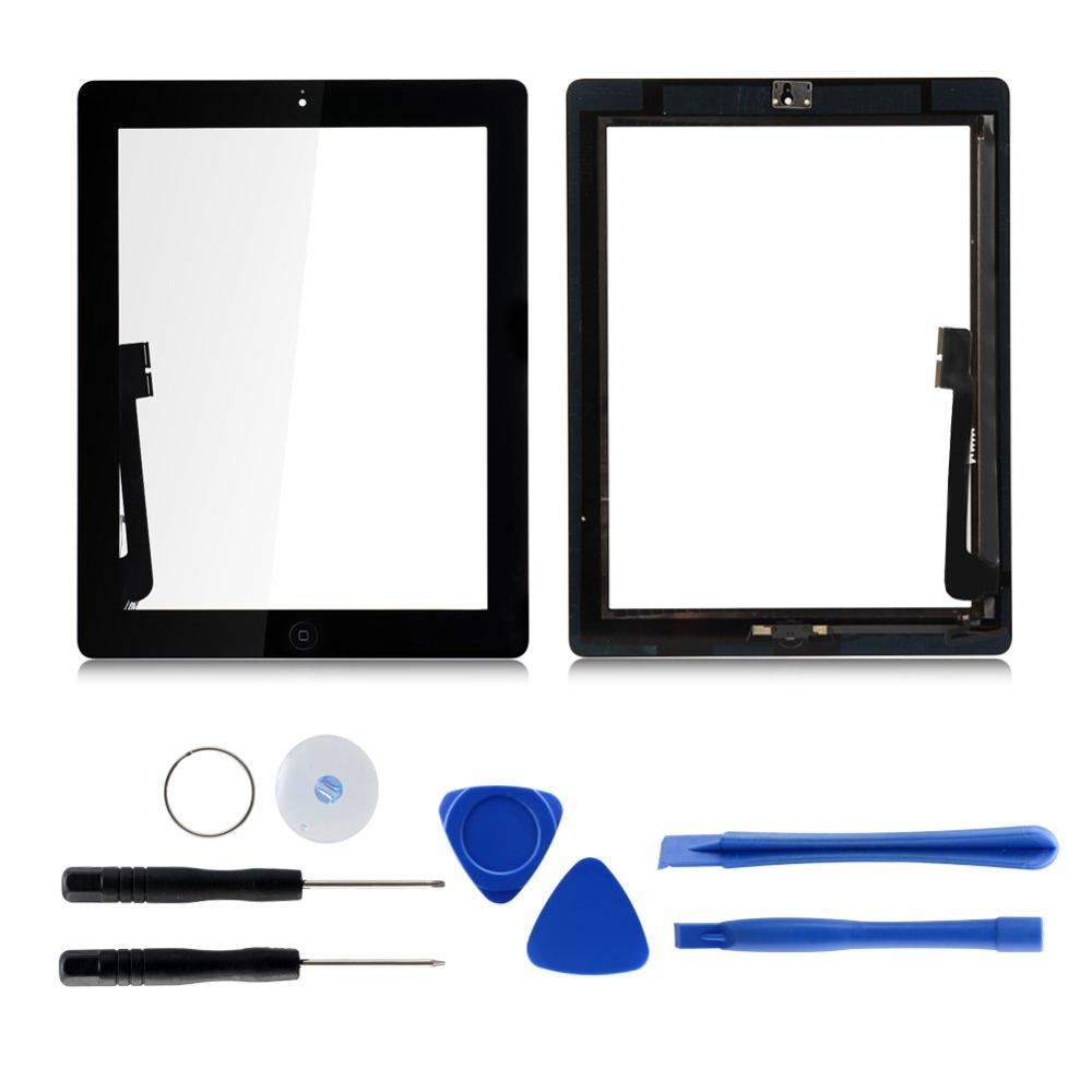 "1pcs For Ipad 4 4th Gen A1458 A1459 A1460 9.7"" Lcd Outer Touch Screen Digitizer Front Glass Panel Replacement"