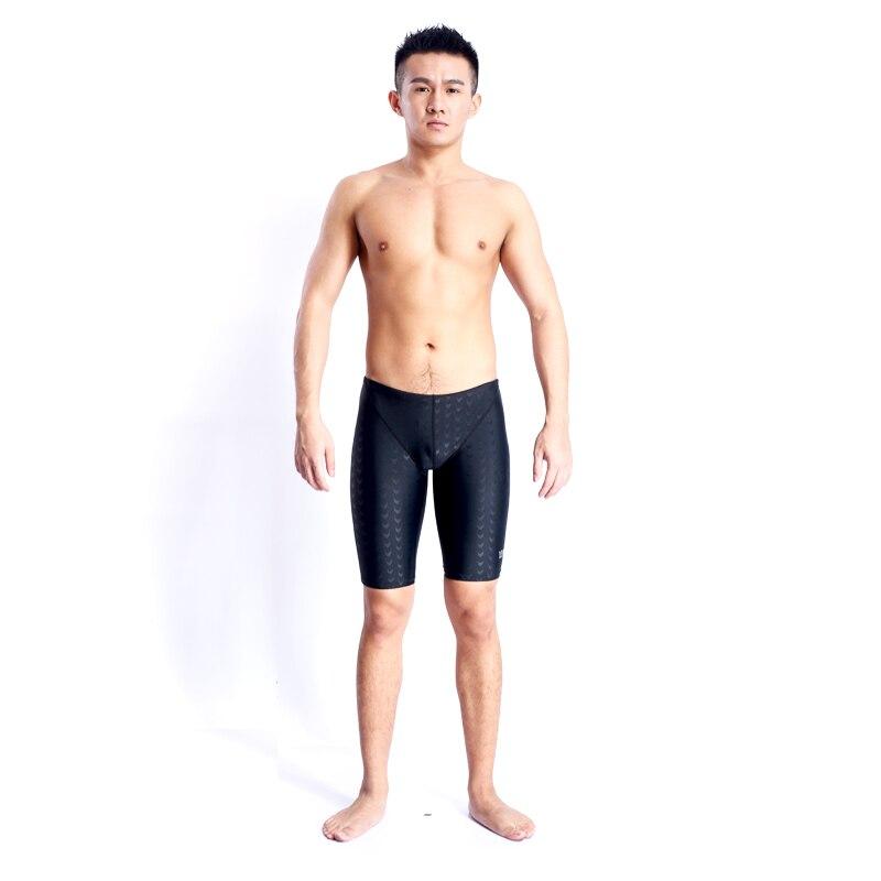 Swimsuit Swimwear Men Swim Suit Sharkskin Boys Swimming Trunks Mens Sunga Professional Competitive Swimsuits Arena Badpak Black(China)