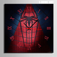 Free Shipping E HOME Web Spider Clock in Canvas 1pcs wall clock