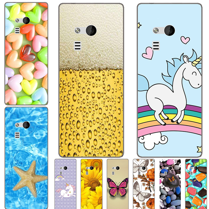 Soft Silicone Printed Cell Phone <font><b>Case</b></font> Cover for <font><b>Nokia</b></font> <font><b>216</b></font> Dual Sim Colorful Back Covers Coque Para Flower <font><b>Cases</b></font> Shell image