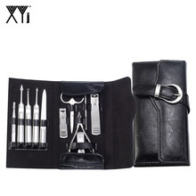 XYj 11 in 1 Nail Art Gereedschap Set Rvs Nail Clipper Kit Manicure Set Tweezer Grooming Kit Pedicure Nail tool met Case(China)