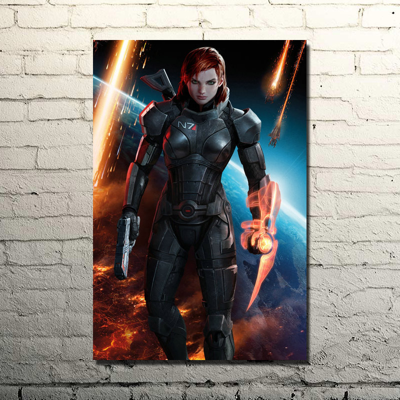 Mass Effect 2 3 4 Game Print Art Silk Poster
