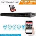 HiK Versão Inglês NVR DS-7604NI-E1/4 P 4CH POE NVR Independente Incorporado NVR 4 POE HD 1080 P NVR 1 SATA