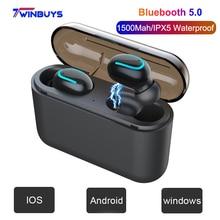 купить Bluetooth 5.0 TWS Wireless Earphone Headphone Handsfree headset music Sport mini Earbud HD MIC noise cancelling gaming earphones недорого