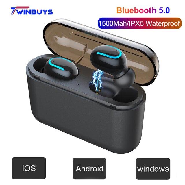 TWS Bluetooth 5.0 Không Dây Tai Nghe Tai Nghe Tai Nghe Tai nghe nhạc Thể Thao mini Tai Nghe Nhét Tai HD MIC chống ồn Tai nghe chơi game