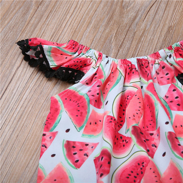 d1155bd8b54 Newborn Baby Girl Bodysuit Flying Sleeve Children Clothing Summer Girls  Costume Watermelon Bodysuits Jumpsuit Clothes Outfits-in Bodysuits from  Mother ...