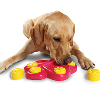 25 25 4 5CM Funny Pet Training Bowl Feeder 7 Holes Dog Paw Educational Toys Puppy