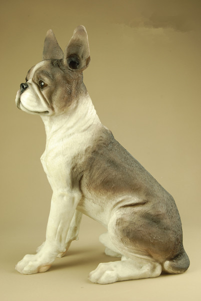 US $48 39 |creative fashion Resin crafts ornaments garden sculpture home  ornaments furnishings sculpture garden artificial boston pugs dog-in