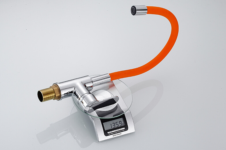 Kitchen Faucet Any Direction Rotating Orange Chrome Color Single Handle Deck Mounted Kitchen Mixer Tap AT8864O in Kitchen Faucets from Home Improvement