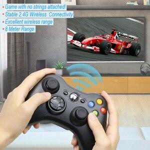 Image 3 - สำหรับXbox 360 2.4G Wireless Controllerคอมพิวเตอร์PCตัวรับสัญญาณไร้สายระยะไกลสำหรับMicrosoft Xbox360 จอยสติ๊กControle