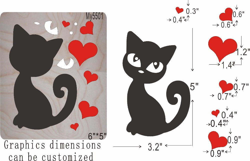 Black cat new wooden mould cutting dies for scrapbooking Thickness 15 8mm