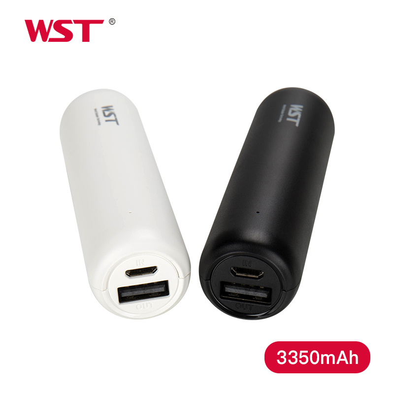 WST Original Mini Power Bank 3350mAh Portable External Battery Pack for Mobile Phone Battery Charger Small Pocket Size Travel mobile phone