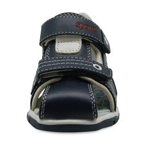 Image 2 - Apakowa Sandalias de cuero genuino para niños pequeños, zapatos planos para niños, de Punta cerrada, deportivas para playa, Eur 26 31
