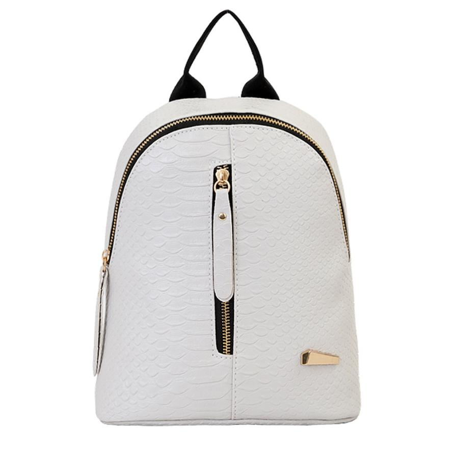 Xiniu Rucksack Women Zipper School Leather Travel Shoulder Harajuku Small Backpack Backpack For Women Zaini Scuola 2019 Summer