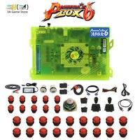 Pandora box 6 1300 in 1 Diy usb joystick arcade button switch arcade joystick buttons speaker kit for controle arcade machine