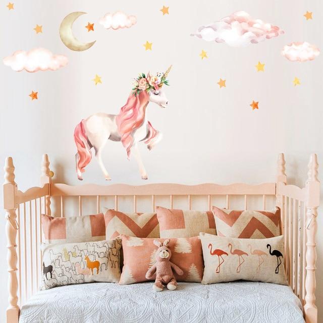 Cute Unicorn Flamingo Wall Stickers