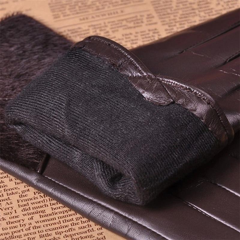 Genuine Leather Brand Gloves Wrist Fashion Fur Decoration Women Sheepskin Gloves Elegant Lady Finger Driving Glove L153NQ 5 in Women 39 s Gloves from Apparel Accessories
