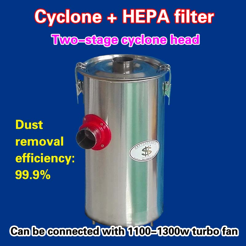 Two-stage cyclone head + 48L  Dust barrel    (1 piece)