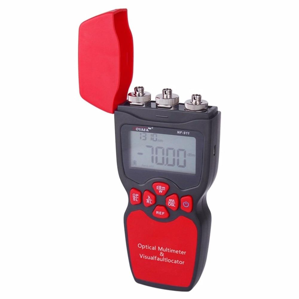 NOYAFA NF-911 3-en-1 De Poche Optique Multimètre Multifonction Testeur De Fiber Optique de Puissance Optique Visual Fault Locator