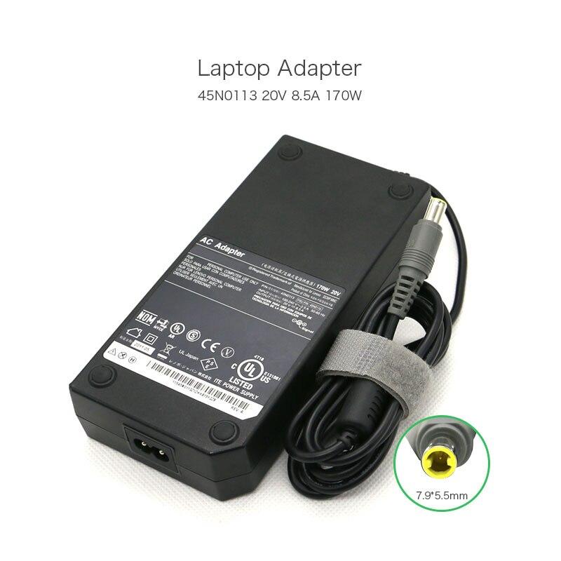 Best Price 20V 8.5A 170W 7.9*5.5mm 45N0113 45N0114 Laptop Power Supply for Lenovo W520 W530 W700 W701 45N0116 45N0118 AC Adapter new original 170w 20v 8 5a ac laptop charger adapter power supply for lenovo thinkpad w530 w520 laptop 3 pin
