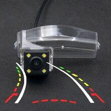 4LED динамическая траектория движения заднего вида Камера для Mazda3 2004 2005 2006 2007 2008 2009 2010 2011 2012 2013 Mazda 3 Спорт