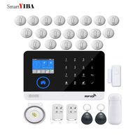 SmartYIBA Wi Fi RFID приложение Дым пожарный детектор датчик сигнализации наборы беспроводной GSM сигнализация удаленная система защиты безопасност