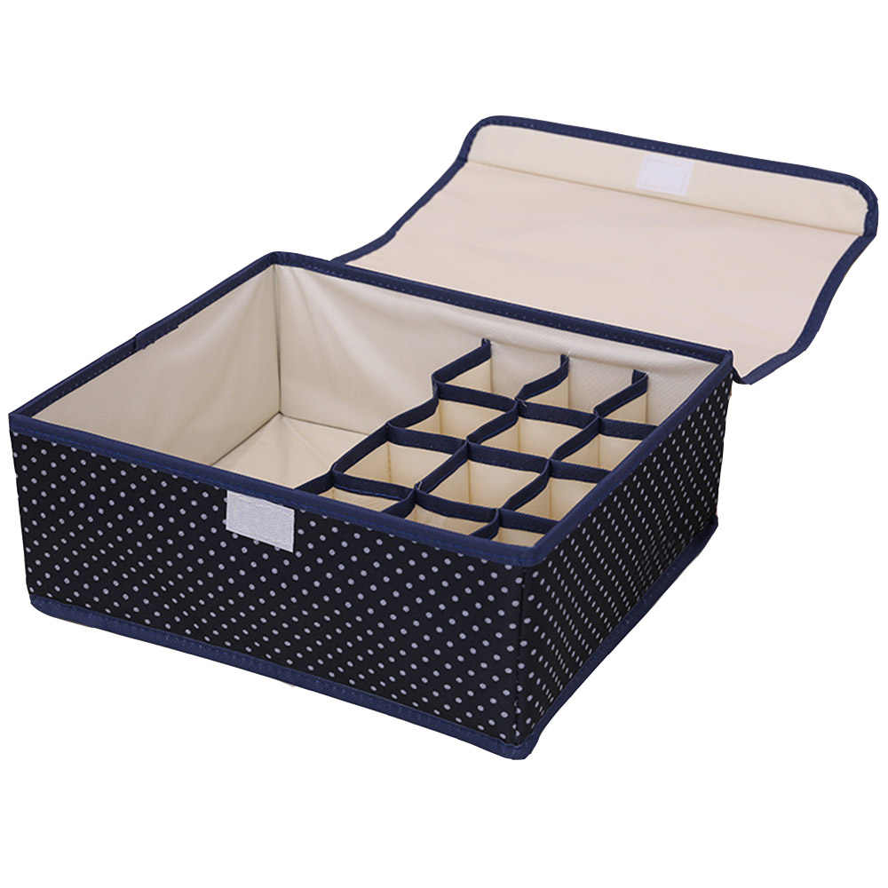 1pcs underwear Foldable storage box large capacity 13 grid Oxford home Closet Organizer For Socks Ties Lingerie