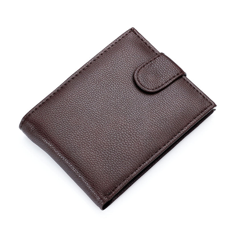 Hot Sale Fashion New Fine Quality Mens Patent Leather Wallet Coin Change Pocket Black Brown Colors 3 Folds Purse Wallets For Men
