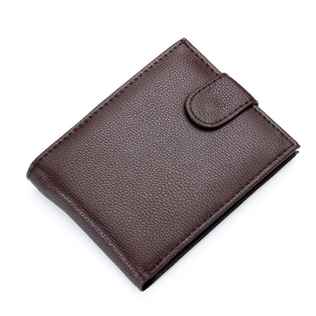 86aed3483844b Hot Sale Fashion New Fine Quality Mens Patent Leather Wallet Coin Change  Pocket Black Brown Colors 3 Folds Purse Wallets For Men