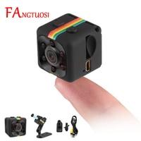 FANGTUOSI-Cámara mini con visión nocturna, videocámara deportiva pequeña DVR con sensor de movimiento, dispositivo de grabación Full HD de 1080P, calidad de 12MP, micrófono incorporado, modelo sq11